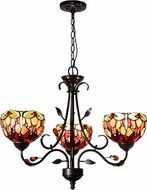 Dale Tiffany TH14116 Dragonfly Tiffany Antique Golden Sand Mini Chandelier Light