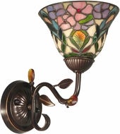 Dale Tiffany TH90225 Peony Tiffany Antique Golden Sand Wall Light Sconce