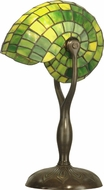 Dale Tiffany TT10345 Green Nautilus Contemporary Antique Bronze / Verde Table Lamp Lighting