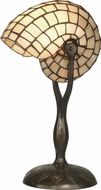 Dale Tiffany TT10346 Nautilus Snail Modern Antique Verde Table Top Lamp