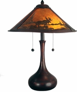 Dale Tiffany TT80484 Wilderness Antique Bronze Side Table Lamp