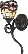 Dale Tiffany TW12424 Fall River Tiffany Dark Bronze Lighting Wall Sconce