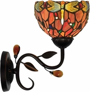 Dale Tiffany TW14119 Dragonfly Tiffany Antique Golden Sand Wall Lighting