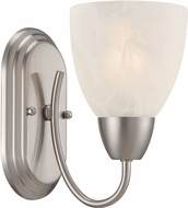 Designers Fountain 15005-1B-35 Torino Brushed Nickel Wall Lamp