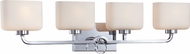 Designers Fountain 6624-CH Venetian Chrome 4-Light Bath Sconce