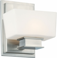 Designers Fountain 6681-SP Geneva Contemporary Satin Platinum Halogen Wall Lighting Sconce