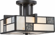 Designers Fountain 84111-CHA Bradley Contemporary Charcoal Flush Mount Lighting Fixture