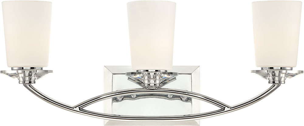 Chrome Bath Lighting Fixtures: Designers Fountain 84203-CH Palatial Contemporary Chrome 3