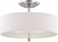 Designers Fountain 84211-CH Palatial Contemporary Chrome Flush Ceiling Light Fixture