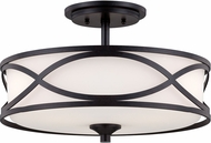 Designers Fountain 84411-ART Bellemeade Contemporary Artisan Flush Mount Ceiling Light Fixture