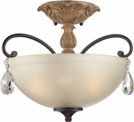 Designers Fountain 85311-DA Bella Maison Distressed Ash Ceiling Lighting Fixture