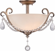 Designers Fountain 86011-ARS Gala Argent Silver Flush Mount Light Fixture