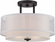 Designers Fountain 86111-BBR Fusion Contemporary Biscayne Bronze Flush Mount Lighting Fixture
