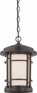 Designers Fountain LED22434-BNB Barrister Burnished Bronze LED Exterior Hanging Lamp