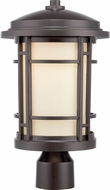Designers Fountain LED22436-BNB Barrister Burnished Bronze LED Outdoor Pole Lighting Fixture