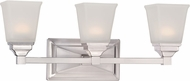 Designers Fountain LED67803-SP Trenton Satin Platinum LED 3-Light Bathroom Light