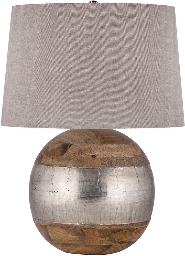 dimond 8983 020 mango wood german silver table lamp. Black Bedroom Furniture Sets. Home Design Ideas