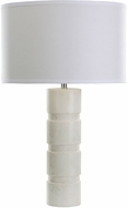 Dimond 8989-002 Contemporary White Marble Table Top Lamp