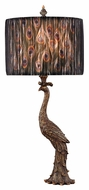 Dimond D2480 Peacock Calling Country Gatton Gold Finish 13  Wide LED Table Lamp Lighting