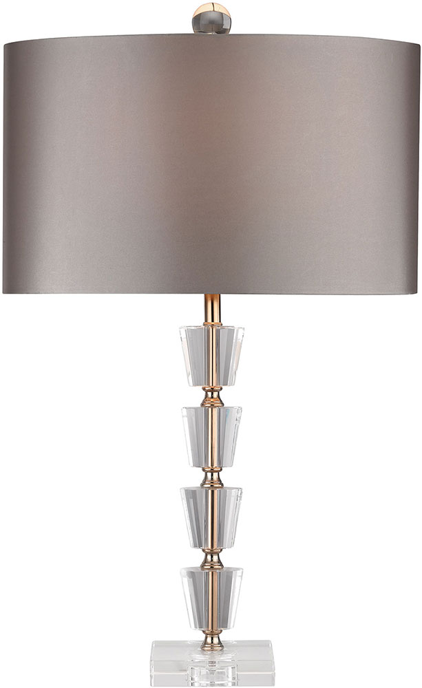 Dimond D2763 Clear Gold Side Table Lamp