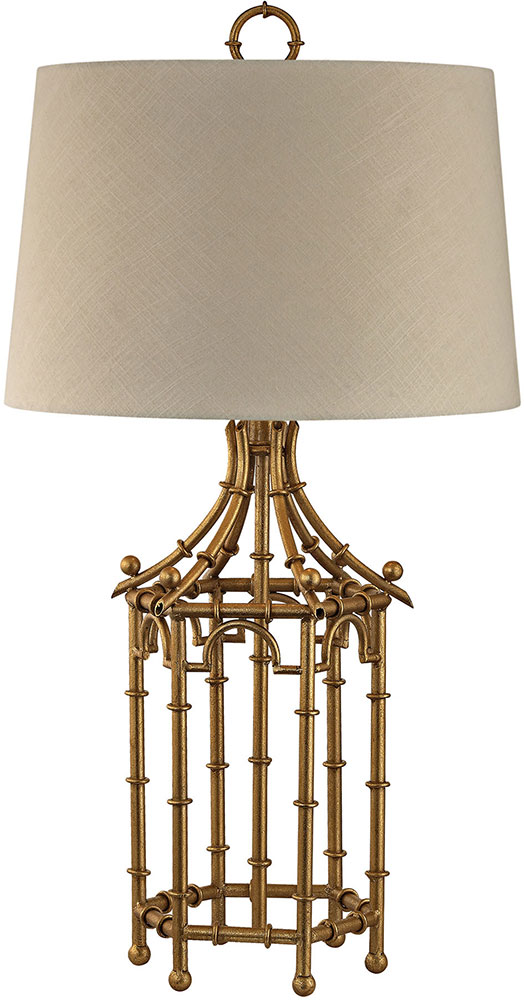 Dimond D2864 Modern Gold Leaf Side Table Lamp