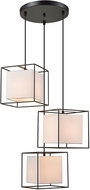 Dimond D3197 Hundred Box Contemporary Oil Rubbed Bronze Multi Hanging Light Fixture