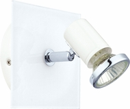 EGLO 31262A Tamara 1 Modern White & Chrome Halogen Wall Sconce