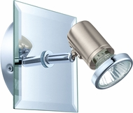 EGLO 31265A Tamara 1 Contemporary Matte Nickel & Chrome Halogen Wall Lamp