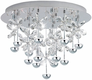 EGLO 39245A Pianopoli Contemporary Chrome LED Ceiling Light Fixture