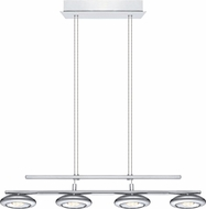 EGLO 92786A Tarugo Contemporary Chrome LED Kitchen Island Lighting