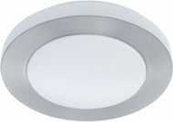EGLO 93287A Carpi 1 Modern Brushed Aluminum LED Flush Mount Light Fixture