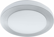 EGLO 93288A Carpi 1 Contemporary Brushed Aluminum LED Flush Mount Lighting Fixture