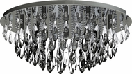EGLO 93434A Calaonda Chrome Halogen Flush Mount Ceiling Light Fixture