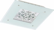 EGLO 93574A Benalua White w/ Clear Trim LED Overhead Light Fixture