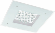 EGLO 93575A Benalua White w/ Clear Trim LED Overhead Lighting Fixture