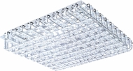 EGLO 94315A Lonzaso Chrome LED Flush Mount Lighting Fixture