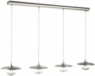 EGLO 95957A Toronja Modern Matte Nickel / Glossy White LED Multi Pendant Light Fixture