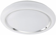 EGLO 96024A Capasso Modern White/Chrome LED Flush Mount Ceiling Light Fixture