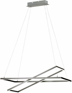 EGLO 96815A Tamasera Modern Matte Nickel LED Kitchen Island Lighting