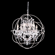 Elegant 1130D25PN-RC Urban Polished Nickel Finish 25  Wide Chandelier Light