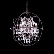 Elegant 1130D25RI-RC Urban Red Rusted Painted Finish 27.5 Tall Chandelier Lighting
