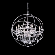 Elegant 1130D32PN-RC Urban Polished Nickel Finish 32  Wide Lighting Chandelier