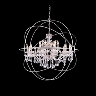 Elegant 1130G43PN-RC Urban Polished Nickel Finish 44  Wide Chandelier Light