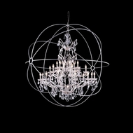 Elegant 1130G60PN-RC Urban Polished Nickel Finish 60  Wide Hanging Chandelier