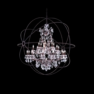 Elegant 1130G60RI-RC Urban Red Rusted Painted Finish 63  Tall Chandelier Light