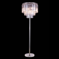 Elegant 1201FL20PN-RC Urban Polished Nickel Finish 20  Wide Floor Lamp Light