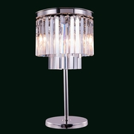 Elegant 1201TL14PN-RC Urban Polished Nickel Finish 14  Wide Lighting Table Lamp