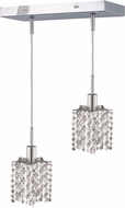 Elegant 1282D-O-P-CL-RC Mini Royal Cut Chrome Multi Hanging Pendant Light