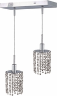 Elegant 1282D-O-R-CL-RC Mini Royal Cut Chrome Multi Pendant Hanging Light