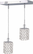 Elegant 1282D-O-S-CL-RC Mini Royal Cut Chrome Multi Hanging Light Fixture
